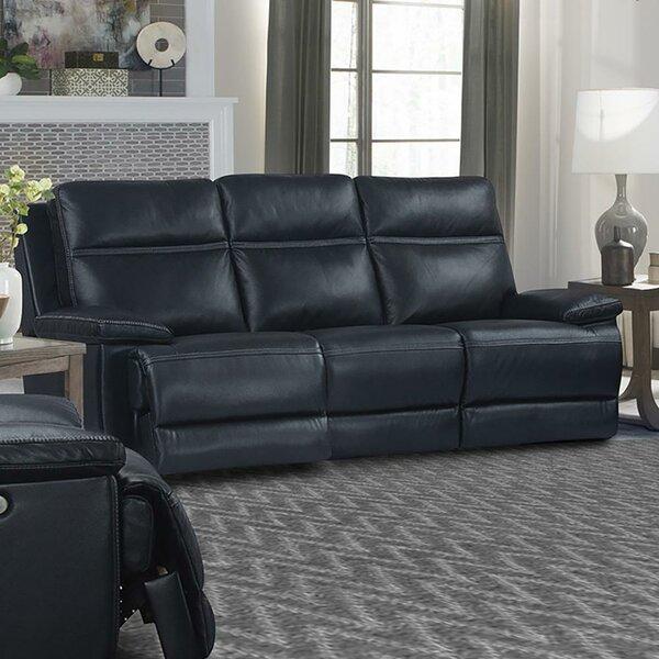 Syn Leather Reclining Sofa By Latitude Run