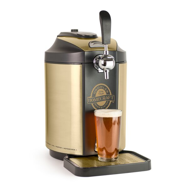 Homecraft on Single Tap Beer Growler Cooling System by Nostalgia