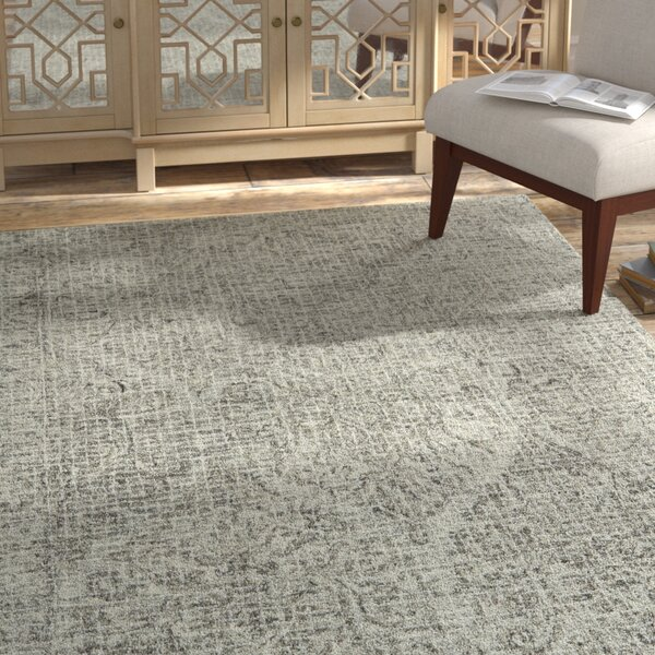 Zeinab Hand Hooked Wool Pewter/stone Area Rug By Bungalow Rose.