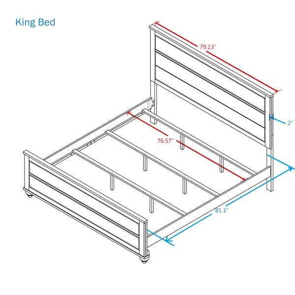 Tavistock Standard Bed by Three Posts