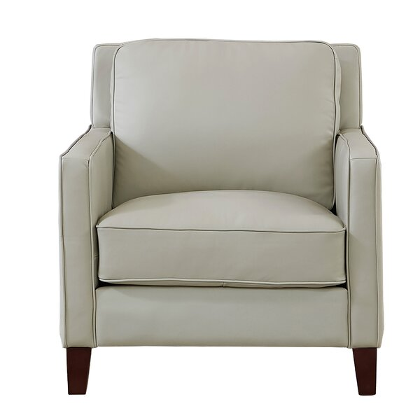 Dieman 100% Leather Armchair By Latitude Run