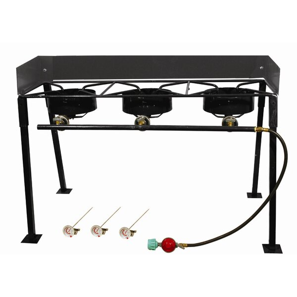 Tall Rectangular Outdoor Three  Burner Camp Stove Package by King Kooker