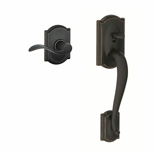 Camelot Lower Half Handleset and Accent Lever by Schlage