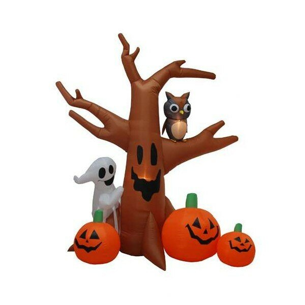 Halloween Inflatable Haunted Tree Decoration by The Holiday Aisle