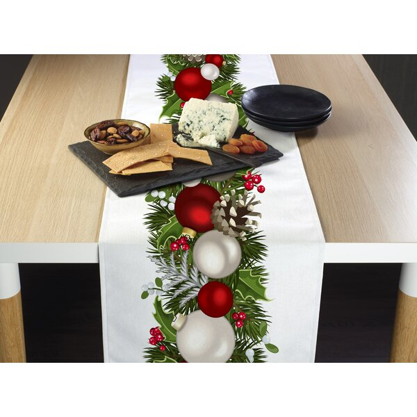 Engle Christmas Garland Border Table Runner by The Holiday Aisle