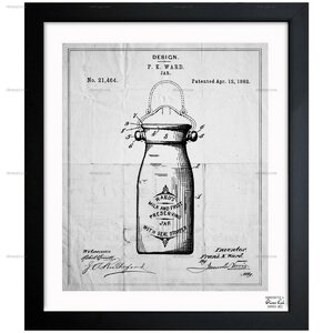 Preserving Jar 1892 Framed Graphic Art by Laurel Foundry Modern Farmhouse