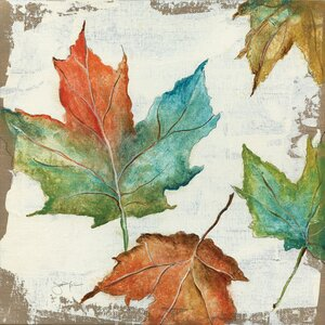 Fall Leaves Painting Print on Wrapped Canvas by East Urban Home