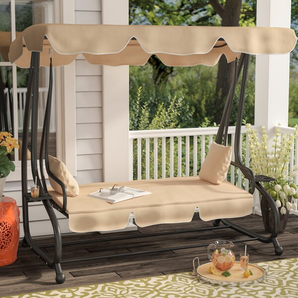 Whitney Outdoor Covered Porch Swing with Stand by Winston Porter