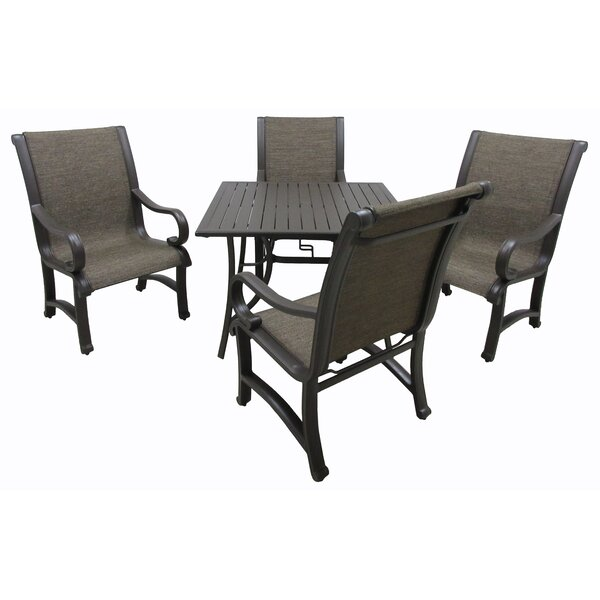 Griffeth 5 Piece Metal Dining Set by Red Barrel Studio