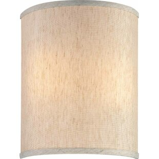 Wall sconce shades youll love wayfair 9 linen drum wall sconce shade by volume lighting mozeypictures Gallery
