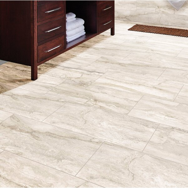 Pietra Bernini 12 x 24 Porcelain Field Tile in Bianco by MSI