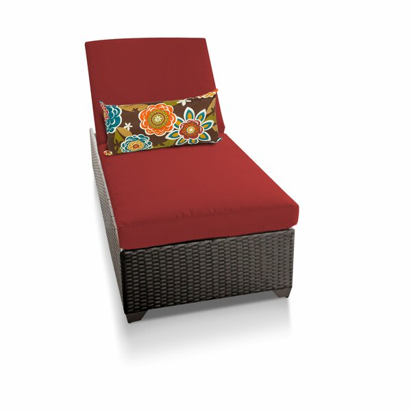 Medley Reclining Chaise Lounge with Cushions by Rosecliff Heights