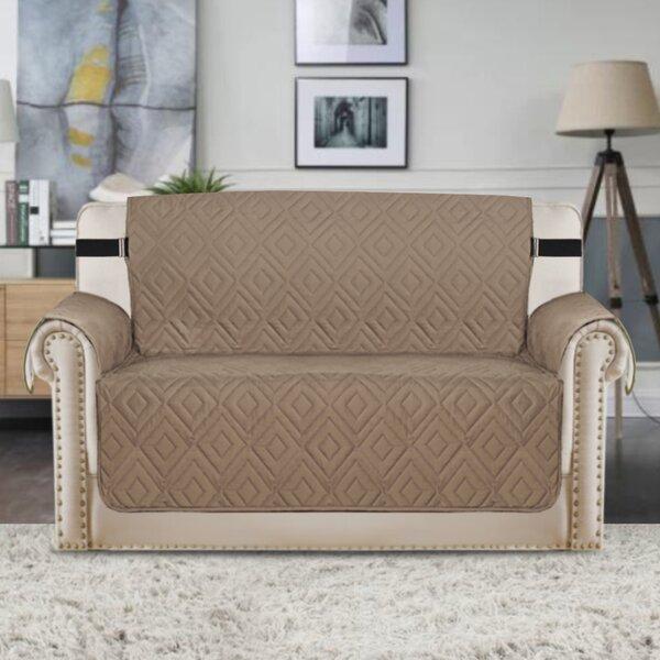 Upgraded Water Repellent Diamond Box Cushion Loveseat Slipcover by Winston Porter