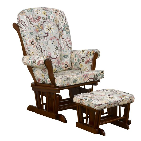 Pavo Floral Glider and Ottoman by Harriet Bee