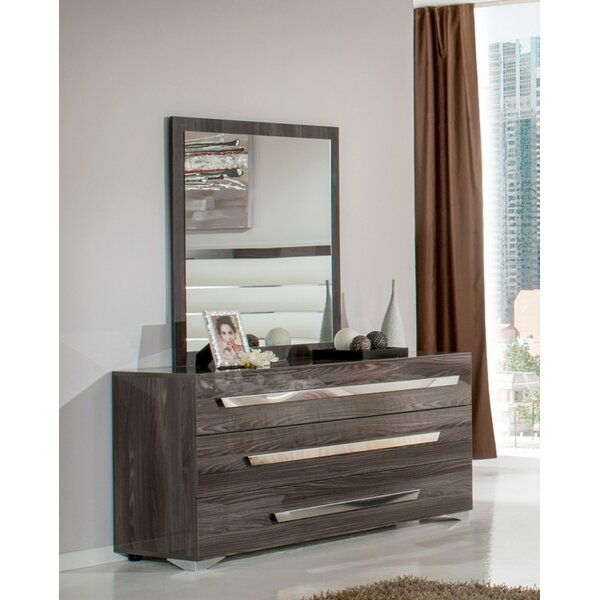 Sommerset 3 Drawer Dresser with Mirror by Orren Ellis