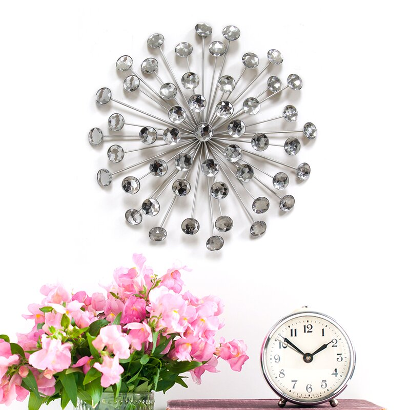 Stratton Home Decor Silver Burst Wall Décor & Reviews | Wayfair