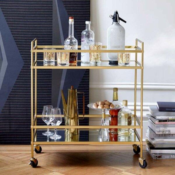Florentin Elegantly Charmed Bar Cart by 17 Stories 17 Stories