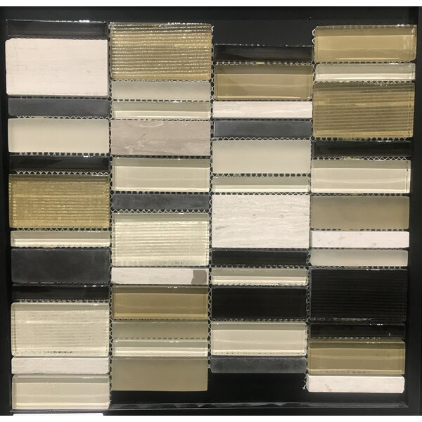 Rio 12 x 12 Natural Stone Mosaic Tile in Taupe/Black by Kertiles