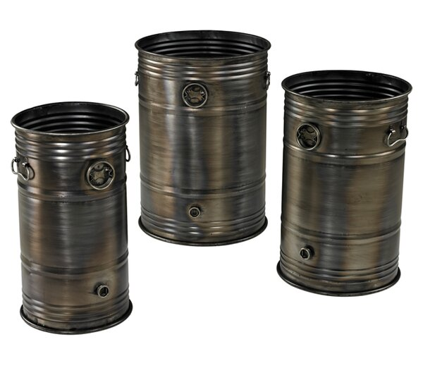 Couey 3-Piece Metal Pot Planter Set by Williston Forge