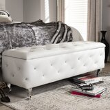 Beglin Leather Tufted Storage Ottoman by House of Hampton