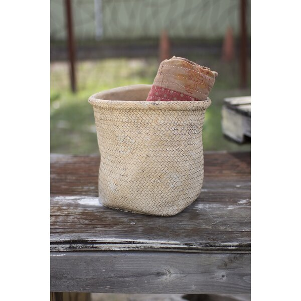 Wolken Woven Rolled Top Cement Pot Planter by Gracie Oaks