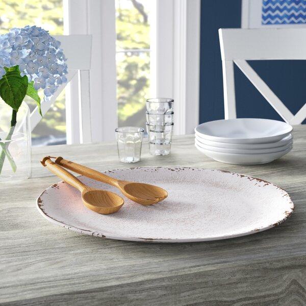 Kinzer Round Melamine Platter by Breakwater Bay
