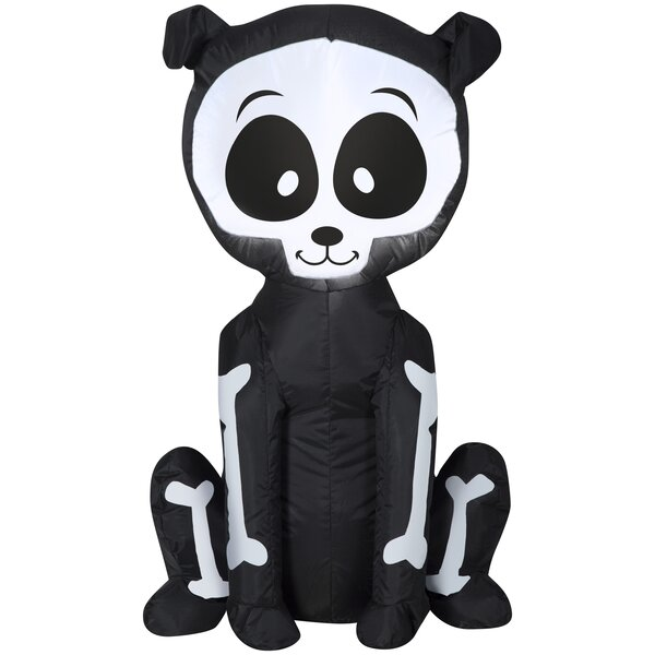 Skeleton Puppy SM (WM) Inflatable by The Holiday Aisle