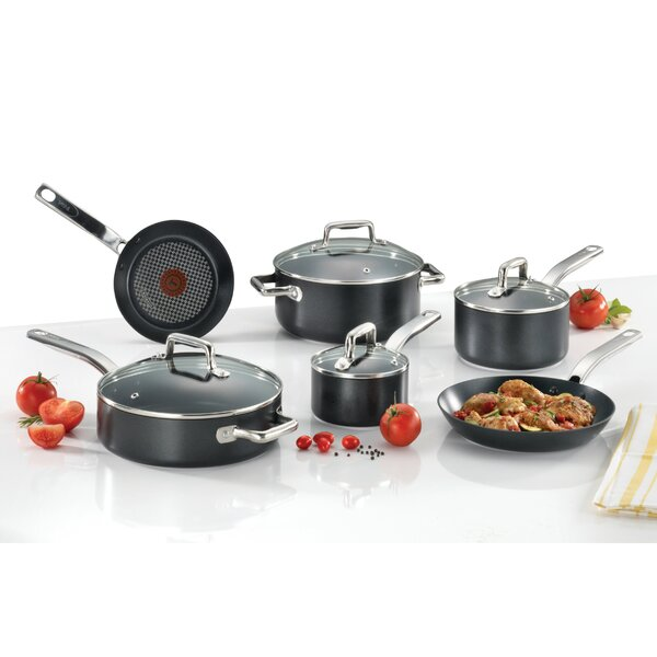 ProGrade 10-Piece Non-Stick Cookware Set by T-fal
