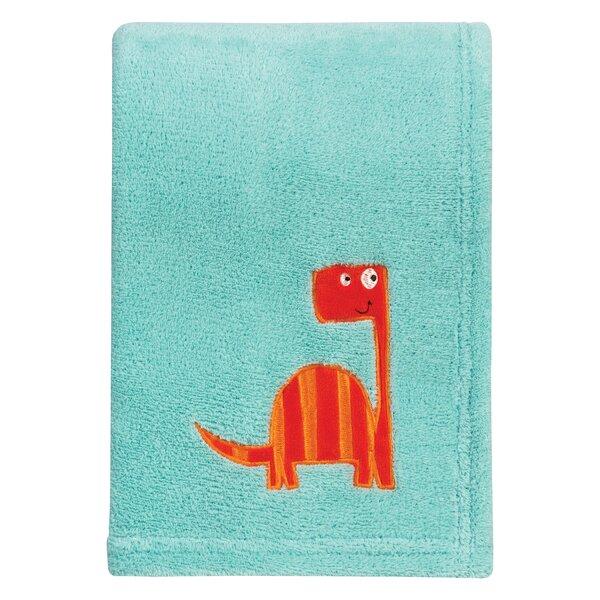 Dinosaur Roar Polyester Baby Blanket by Trend Lab