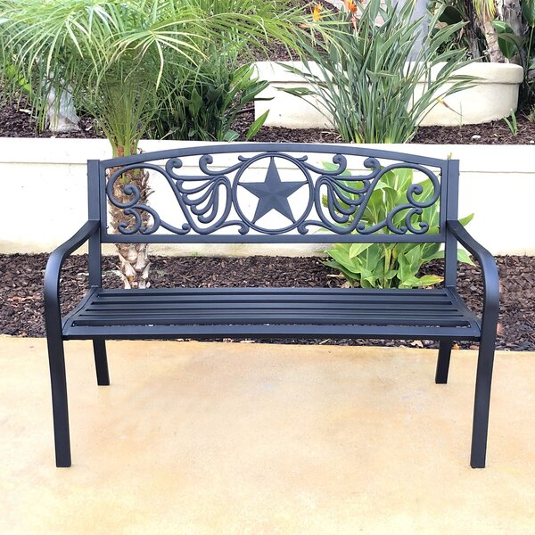 Ayois Steel Garden Bench by Winston Porter
