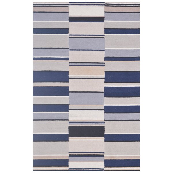 Wool Hand-Tufted Ivory/Navy Blue Area Rug by Eastern Weavers