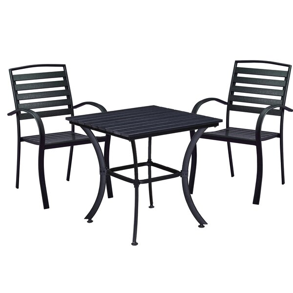 Galliher Modern Contemporary 3 Piece Bistro Set by Wrought Studio