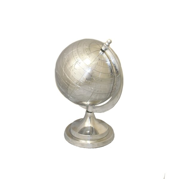 Global Appeal Aluminum Decorative Tabletop Globe by EC World Imports