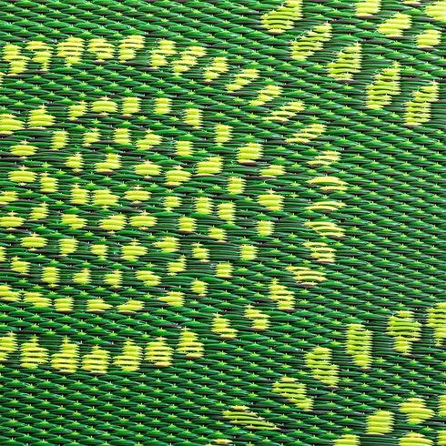 Ebern Designs Calandre Reversible Hand Woven Green Indoor