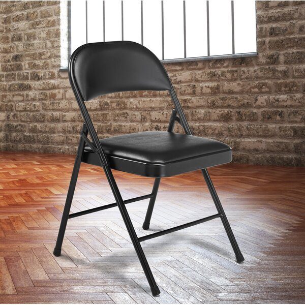 Commercialine Vinyl Padded Folding Chair (Set of 4) by National Public Seating