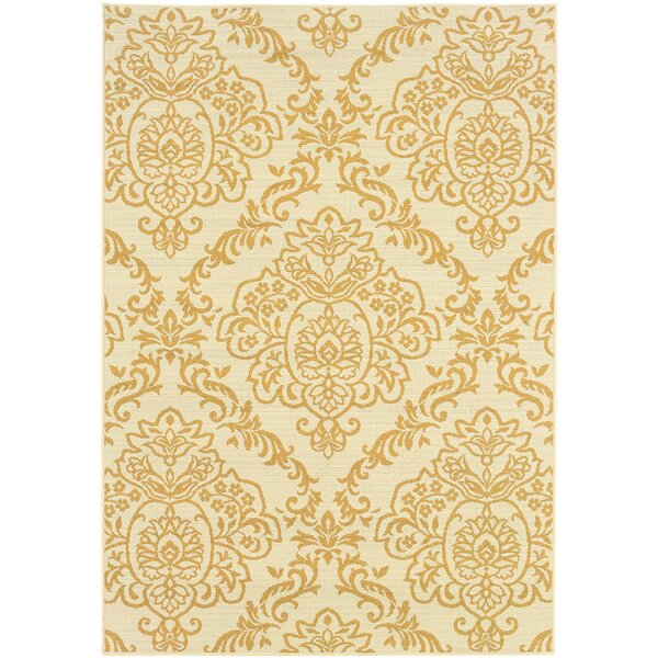 Lightsey Ivory/Gold Indoor/Outdoor Area Rug by Canora Grey