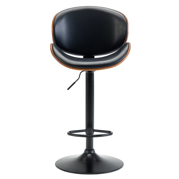 Bair Adjustable Height Swivel Bar Stool by George Oliver