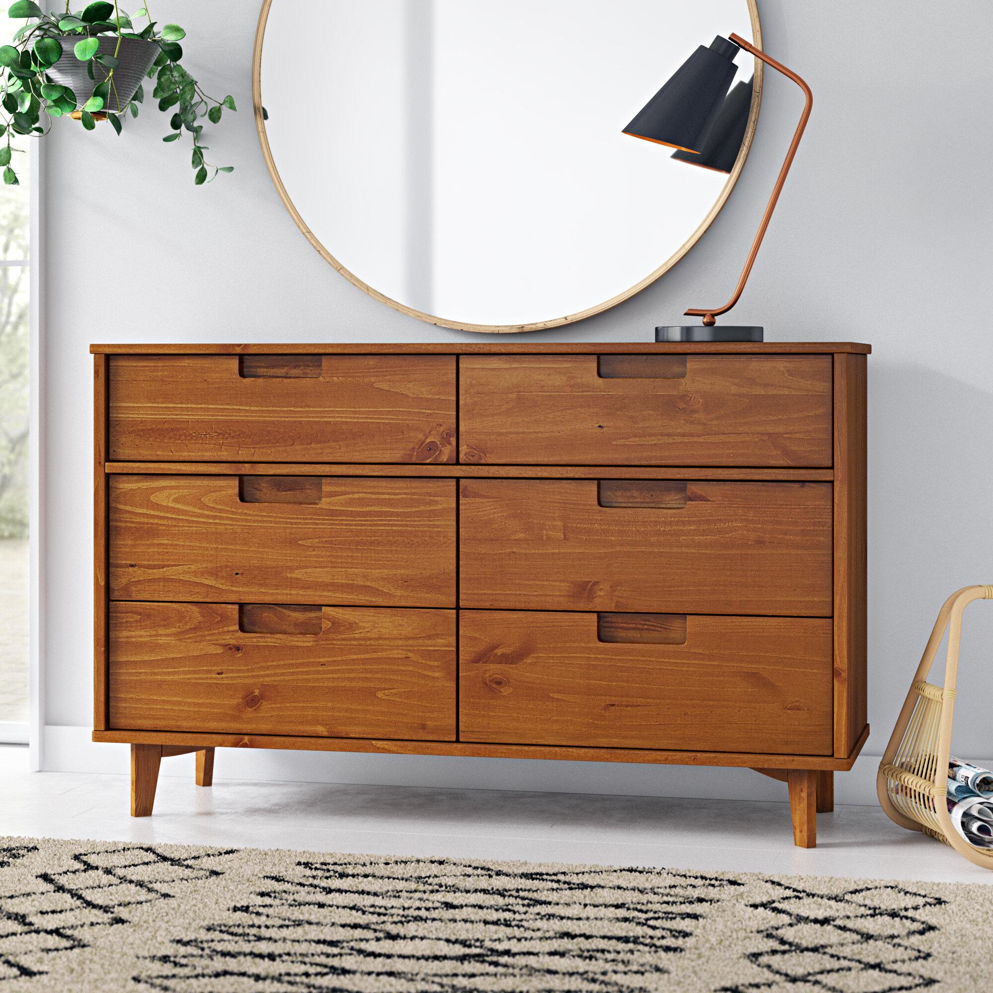Stephenson Groove 6 Drawer Double Dresser Reviews Allmodern