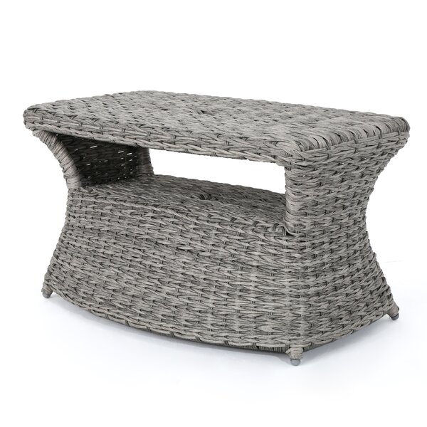 Hinkson Outdoor Wicker Side Table by Highland Dunes