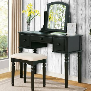 Heslin Vanity Set with Mirror by Alcott Hill