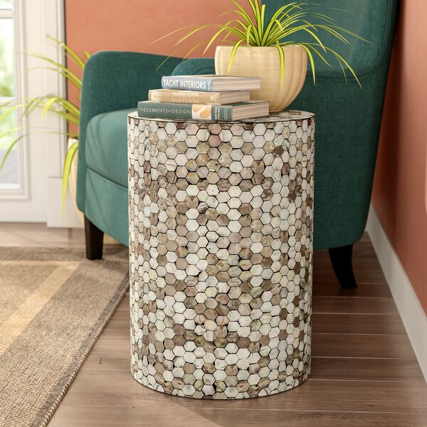 Grantham Unique and Graceful Wood Garden Stool by