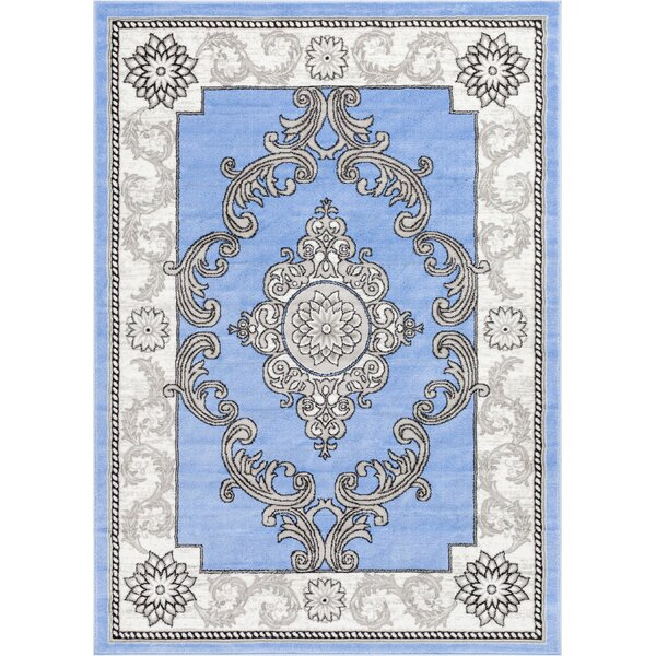 Ash Yonderhill Traditional Blue Indoor Area Rug by Well Woven