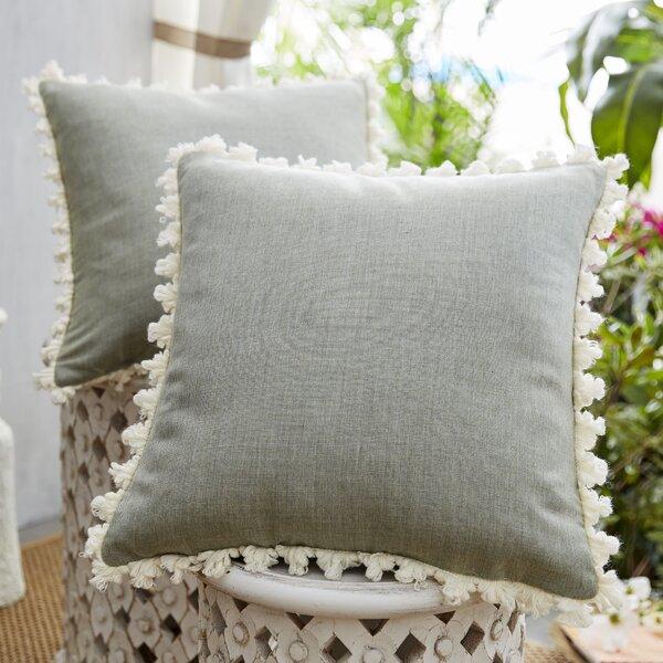 Coastal Fretwork Indoor/Outdoor Throw Pillow (Set of 2)