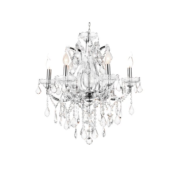 Orr 6 - Light Candle Style Classic / Traditional Chandelier by Astoria Grand Astoria Grand