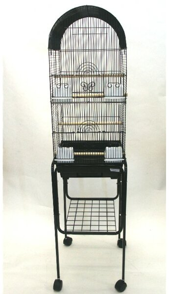 Omalley Tall Round 4 Perch Bird Cage with Stand by Tucker Murphy Pet