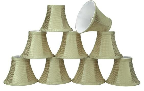 6 Fabric Bell Candelabra Shade (Set of 9) by Aspen Creative Corporation