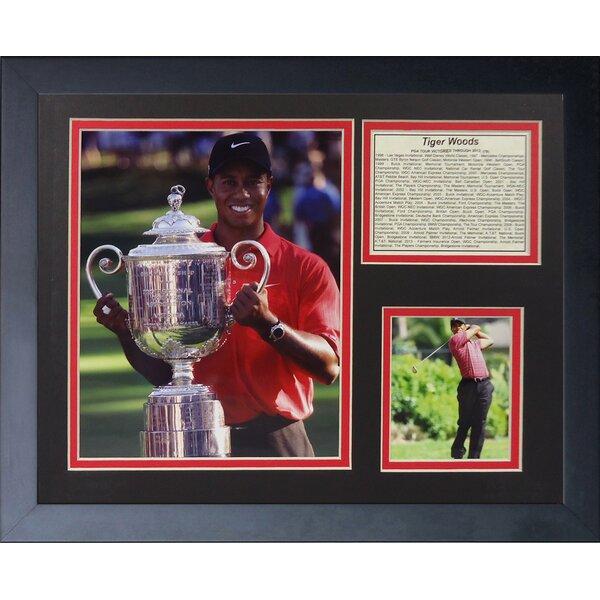 Tiger Woods Trophy Framed Memorabilia by Legends Never Die