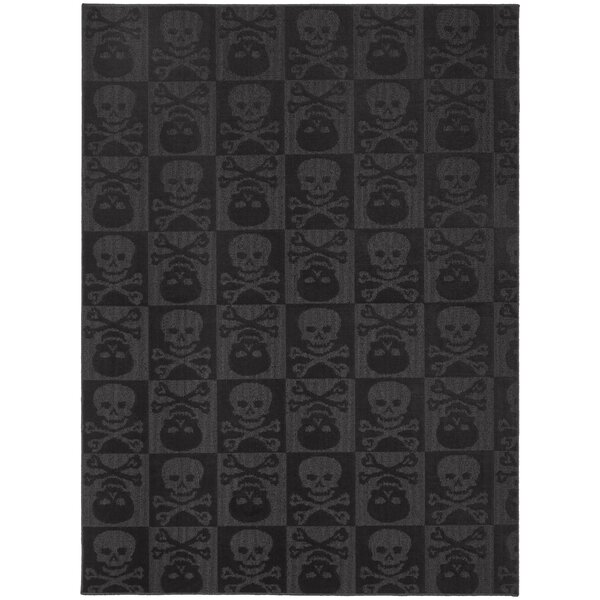 Black Indoor/Outdoor Area Rug by Threadbind