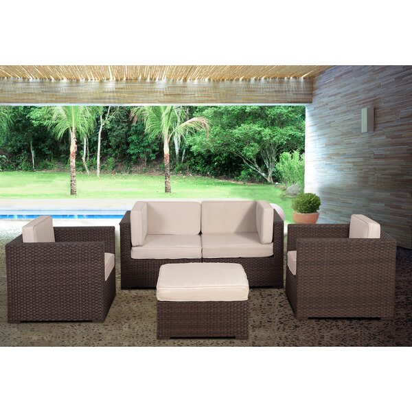 St.Tropez 5 Piece Sectional Set with Cushions by International Home Miami