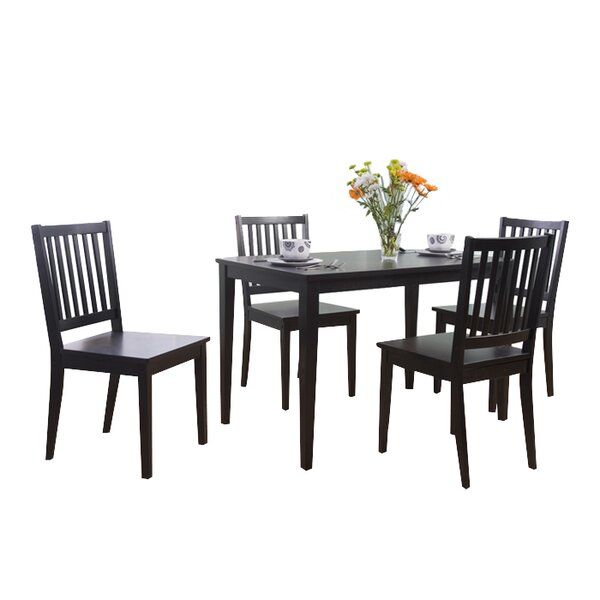 Barryknoll 5 Piece Dining Set by Three Posts